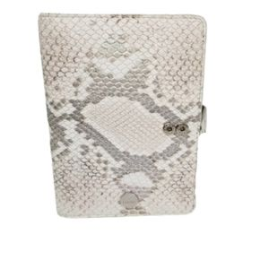 Lodis passport and card holder faux snake skin